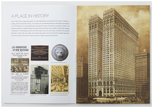 120 Broadway spread real estate brochure